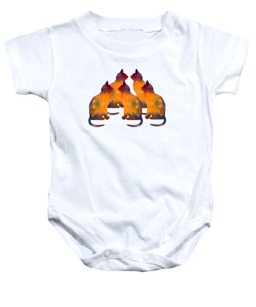 Cat Pyramid Baby Onesie