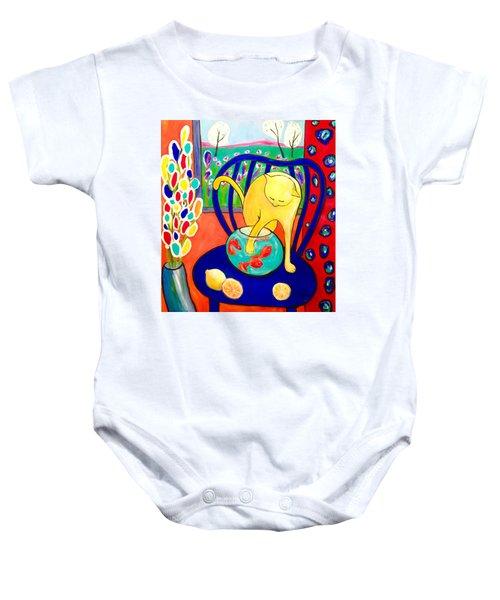 Cat - Tribute To Matisse Baby Onesie