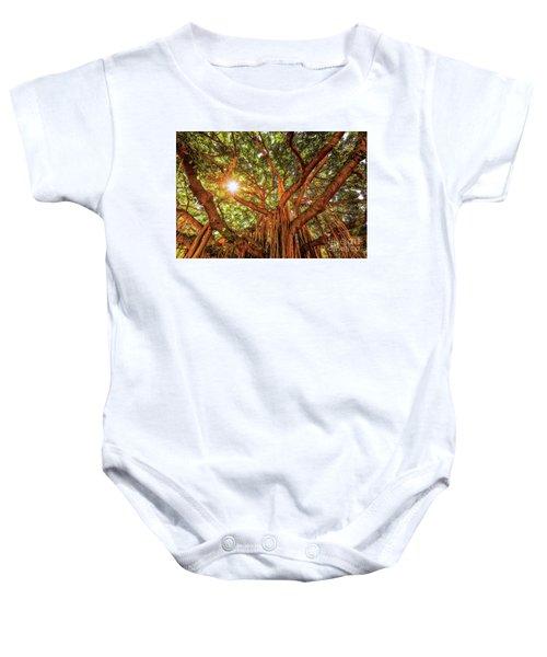 Catch A Sunbeam Under The Banyan Tree Baby Onesie