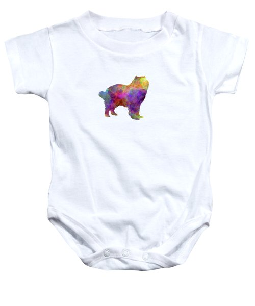 Caucasian Shepherd Dog In Watercolor Baby Onesie
