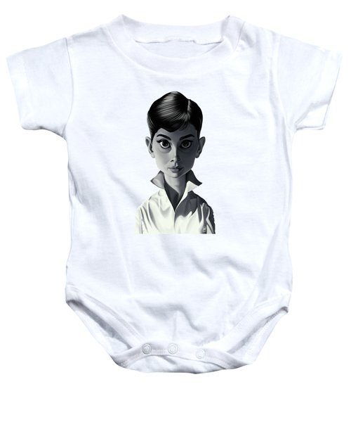 Celebrity Sunday - Audrey Hepburn Baby Onesie by Rob Snow