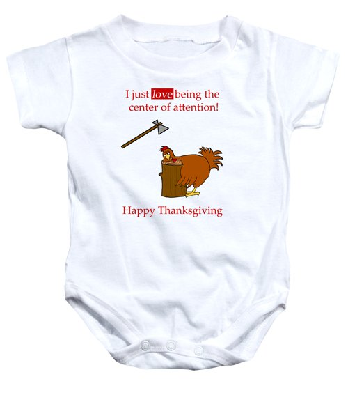 Center Of Attention Baby Onesie by Methune Hively