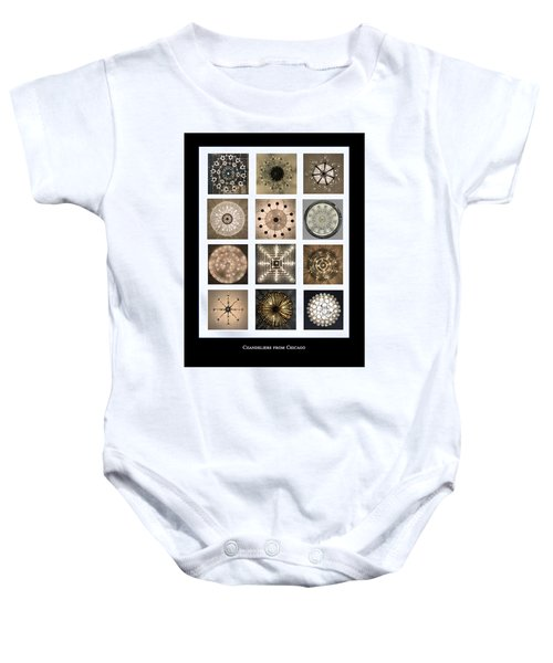 Chandeliers From Chicago Poster Baby Onesie