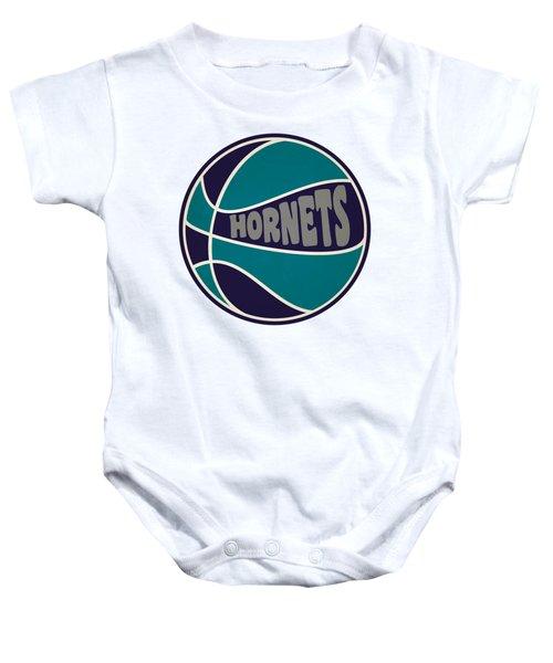 Charlotte Hornets Retro Shirt Baby Onesie by Joe Hamilton