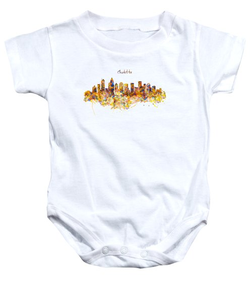 Charlotte Watercolor Skyline Baby Onesie