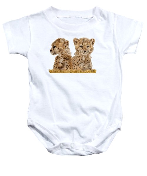 Cheetah Cubs Baby Onesie by Angeles M Pomata