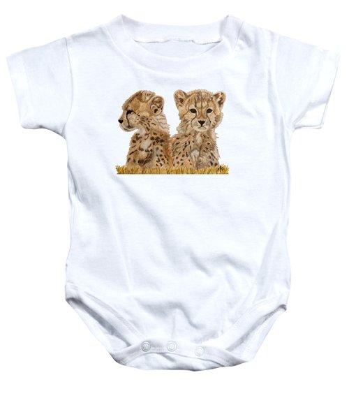 Cheetah Cubs Baby Onesie