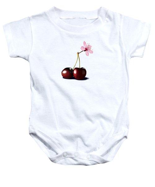Cherry Blossom Baby Onesie