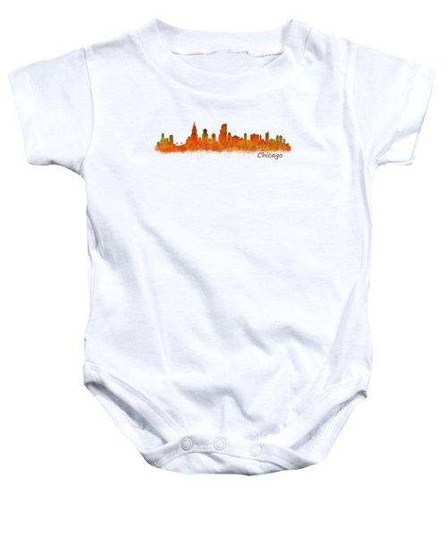 Chicago City Skyline Hq V2 Baby Onesie