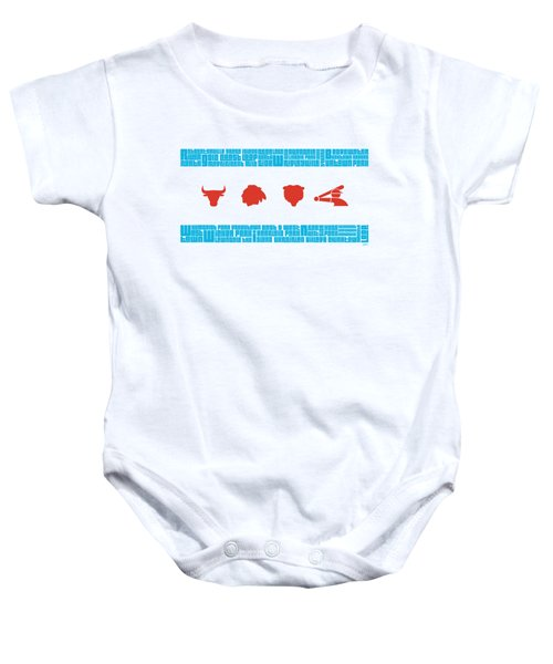 Chicago Flag Sports Teams V2 Baby Onesie by Mike Maher