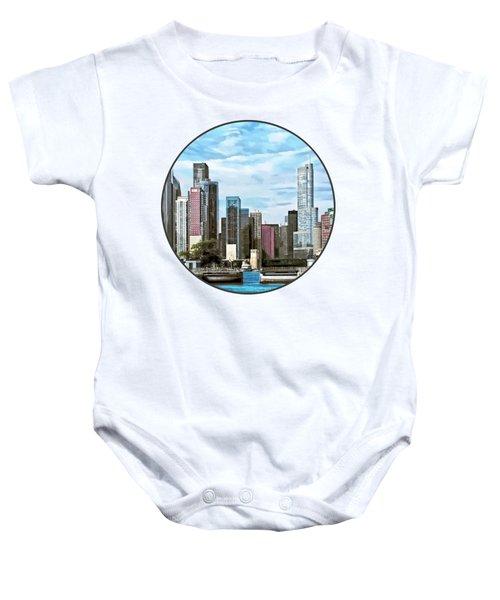 Chicago Il - Chicago Harbor Lock Baby Onesie by Susan Savad