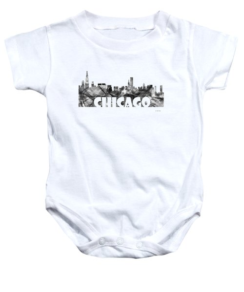 Chicago Illinios Skyline Baby Onesie by Marlene Watson