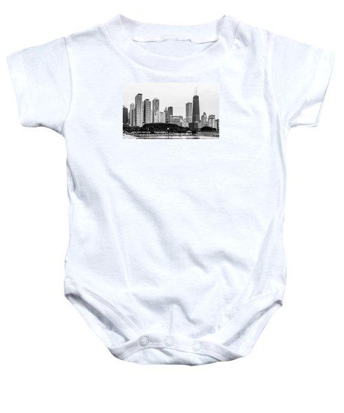 Chicago Skyline Architecture Baby Onesie