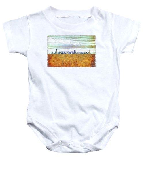 Chicago Skyline Baby Onesie by Di Designs