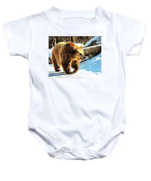 Chief Walking Bear Baby Onesie