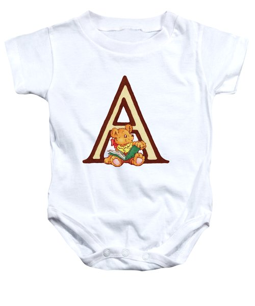Children's Letter A Baby Onesie by Andrea Richardson