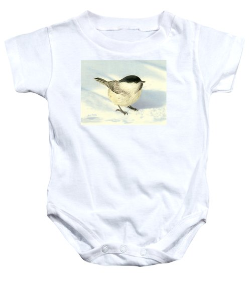 Chilly Chickadee Baby Onesie