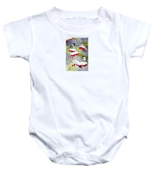 Chilly Chickadees Baby Onesie