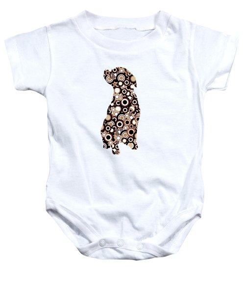 Chocolate Lab - Animal Art Baby Onesie