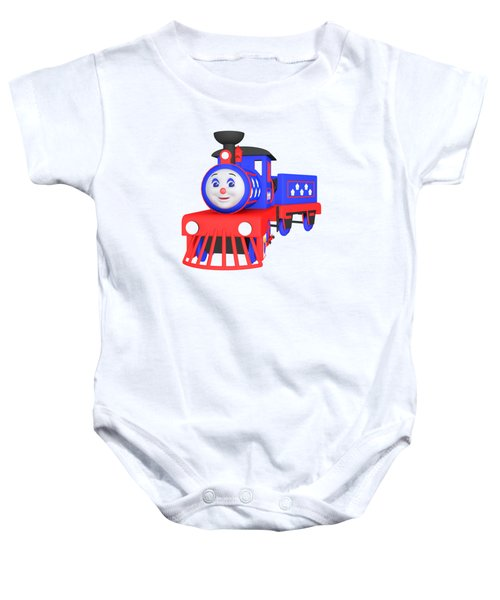 Choo-choo The Train - 1 Baby Onesie by Yulia Litvinova
