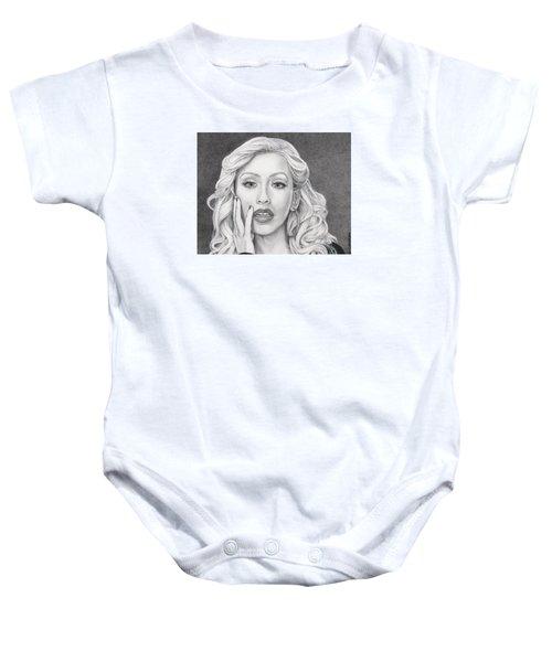 Christina Aguilera Baby Onesie