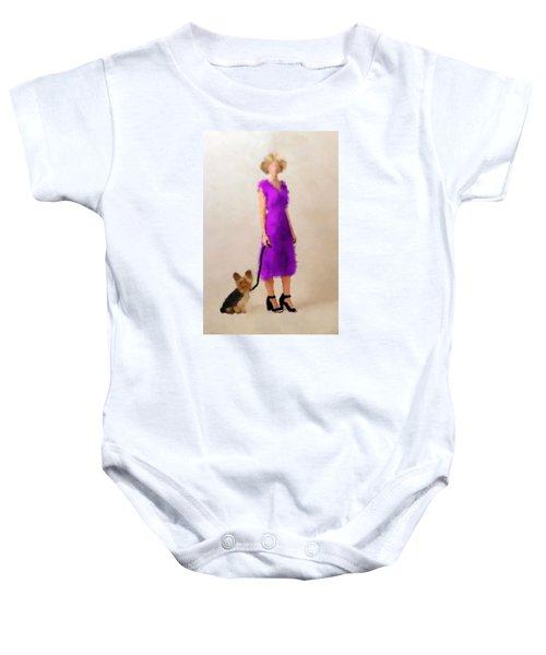 Baby Onesie featuring the digital art Christina by Nancy Levan