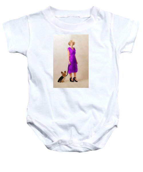 Baby Onesie featuring the digital art Christina by Nancy Levan