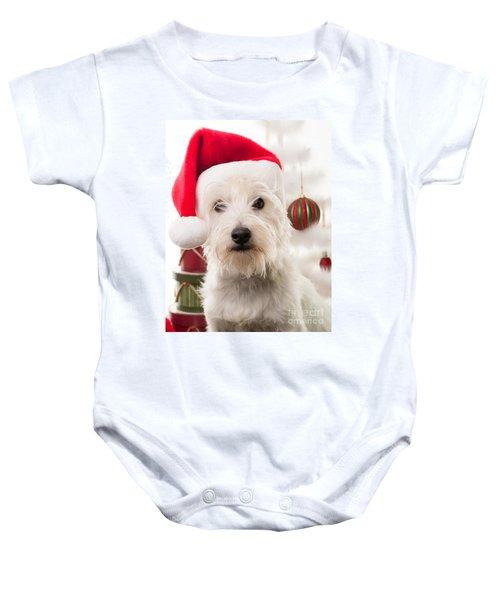 Christmas Elf Dog Baby Onesie