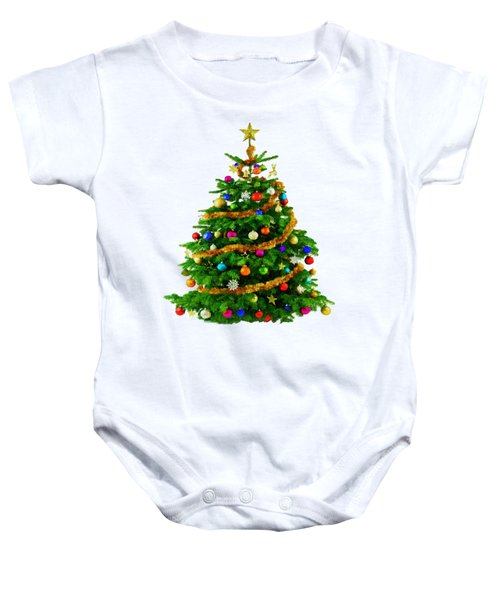 Christmas Tree 1417 Baby Onesie