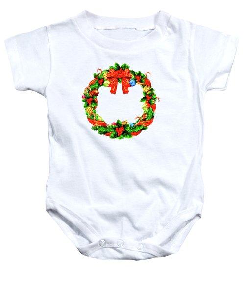 Christmas Wreath Baby Onesie