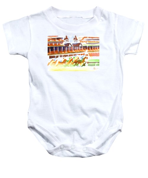 Churchill Downs Watercolor Baby Onesie