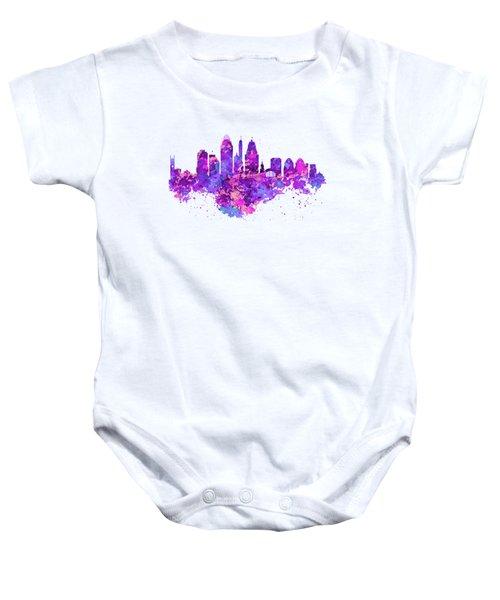 Cincinnati Skyline Baby Onesie by Marian Voicu