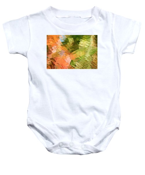 Cinnamon And Spice Mosaic Abstract Baby Onesie