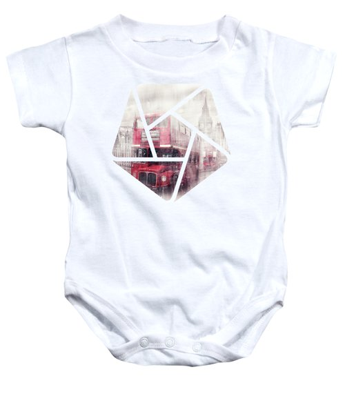City-art London Westminster Collage II Baby Onesie by Melanie Viola