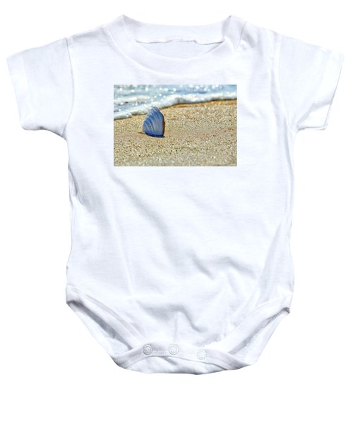 Clamshell In The Waves On Assateague Island Baby Onesie