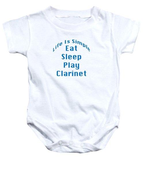 Clarinet Eat Sleep Play Clarinet 5512.02 Baby Onesie