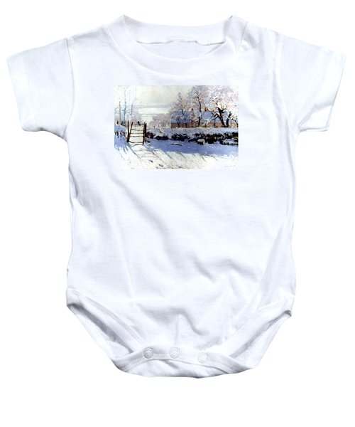 Claude Monet The Magpie - To License For Professional Use Visit Granger.com Baby Onesie