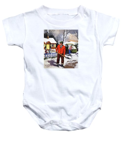 Clearing The Snow Baby Onesie