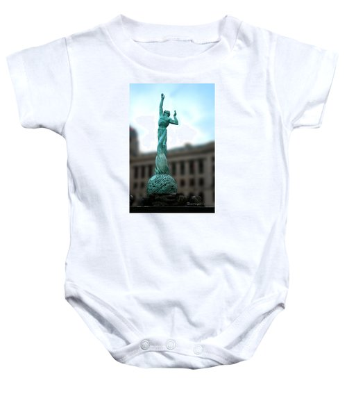 Cleveland War Memorial Fountain Baby Onesie