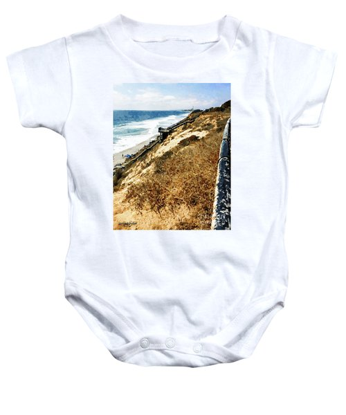 Cliff View - Carlsbad Ponto Beach Baby Onesie