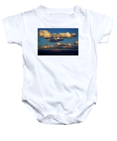 Clouds And Red Rocks Hdr Baby Onesie