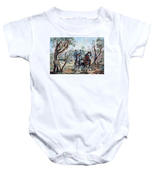 Clydesdales And Cart Baby Onesie