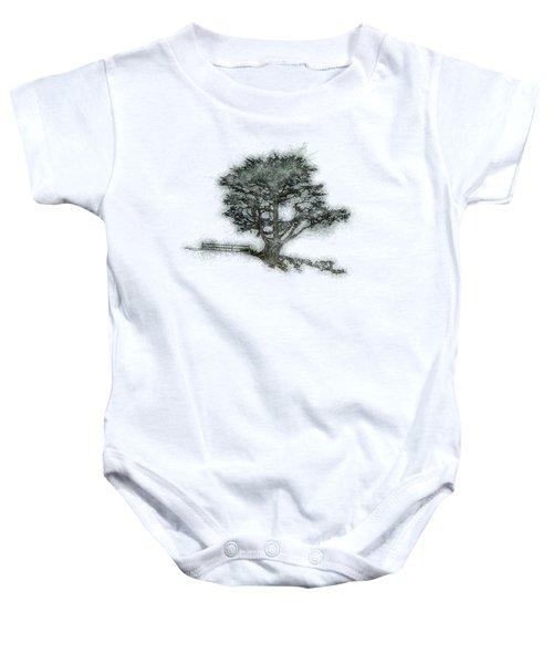 Coastal Tree Sketch Baby Onesie