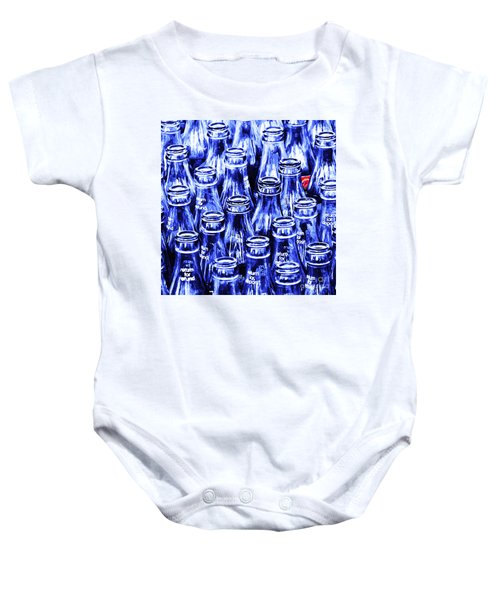 Coca-cola Coke Bottles - Return For Refund - Square - Painterly - Blue Baby Onesie