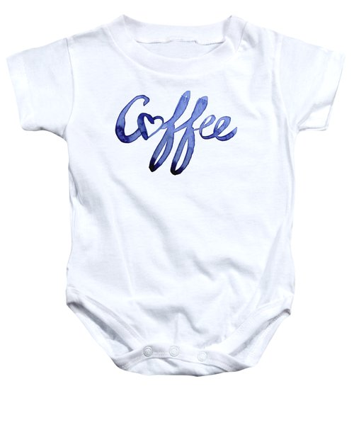 Coffee Love Typography Baby Onesie