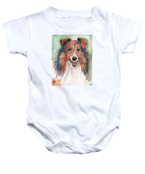 Collie, Shetland Sheepdog Baby Onesie by Maria's Watercolor