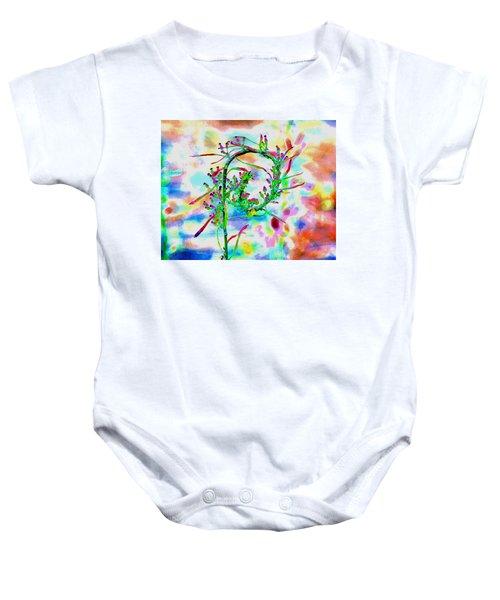 Color Curl Baby Onesie