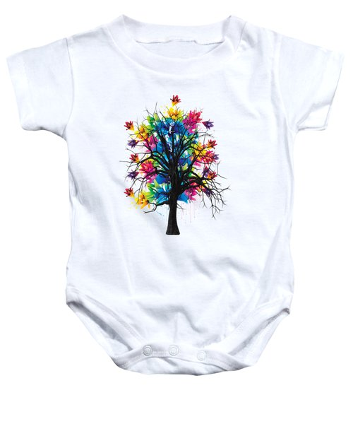 Color Tree Collection Baby Onesie by Marvin Blaine