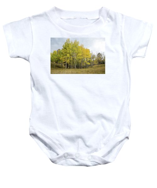 Colorado Aspens In Autumn Baby Onesie
