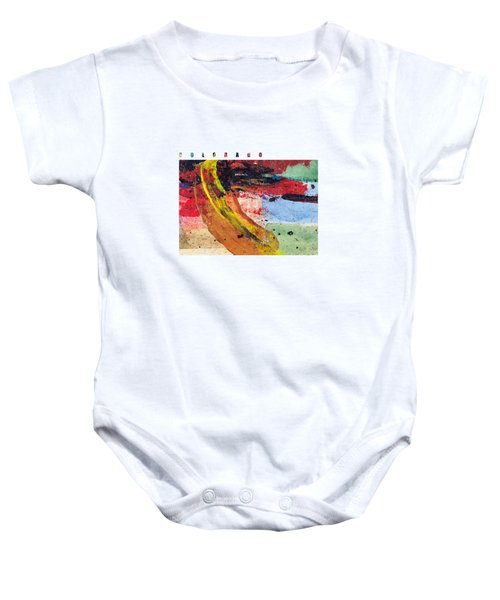 Colorado Map Art - Painted Map Of Colorado Baby Onesie